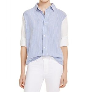 Current Elliott Stripped Button Down Shirt 1 Small
